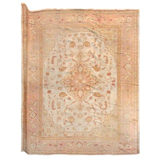 Oushak Carpet - 12′ × 14′5″ For Sale