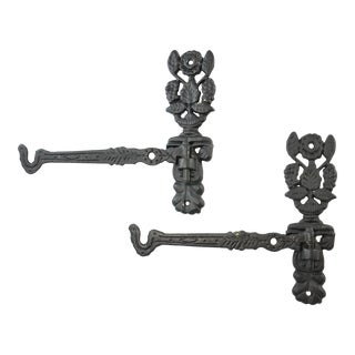 Cast Iron-Style Plant Hangers - A Pair