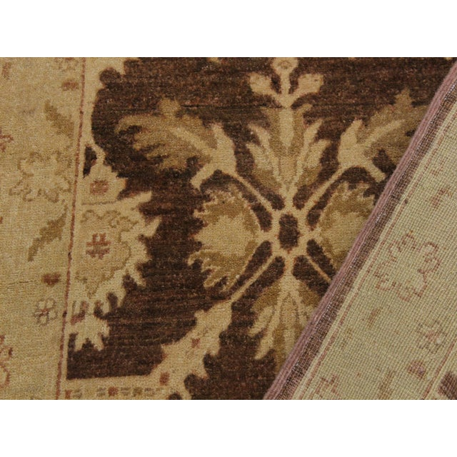 1990s Vintage Nobuko Brown/Tan Hand-Knotted Wool Rug - 2′6″ × 9′8″ For Sale In New York - Image 6 of 8