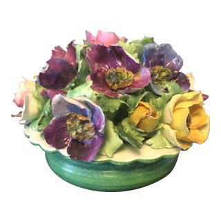 Vintage Straffordshire Fine China Capodimonte Flowers For Sale