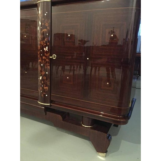 Art Deco Jules Leleu Style 1920s French Art Deco Buffet For Sale - Image 3 of 10