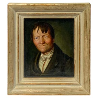 Miniature Portrait of a Sleepy Eyed Man, Circle Christian Wilhelm Ernst Dietrich For Sale