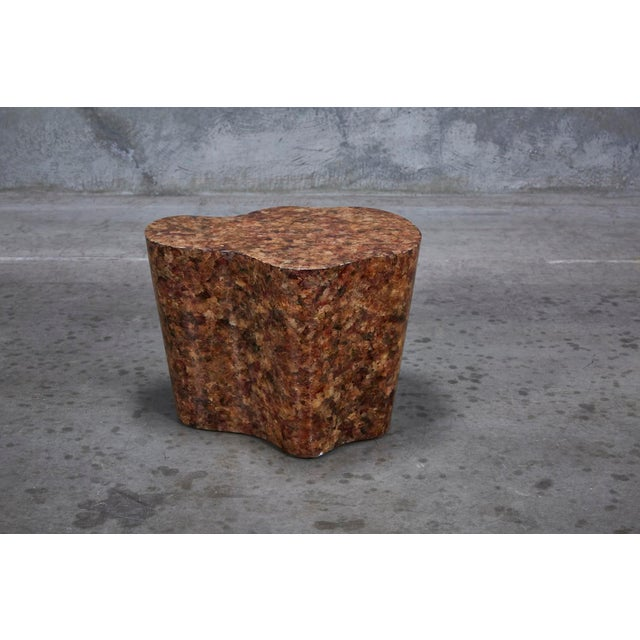 """1990s Contemporary Freeform """"Clouds"""" Side Table With Petal Shell Inlay For Sale In Los Angeles - Image 6 of 13"""