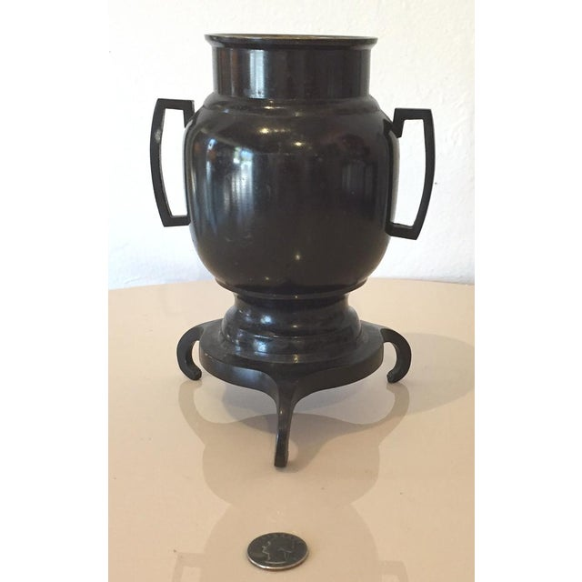 Asian Japanese Style Bronze Ikebana Vase For Sale - Image 3 of 6