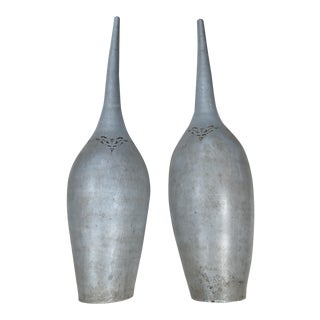 Pasargad NY Vintage Long Necked Vases - A Pair For Sale
