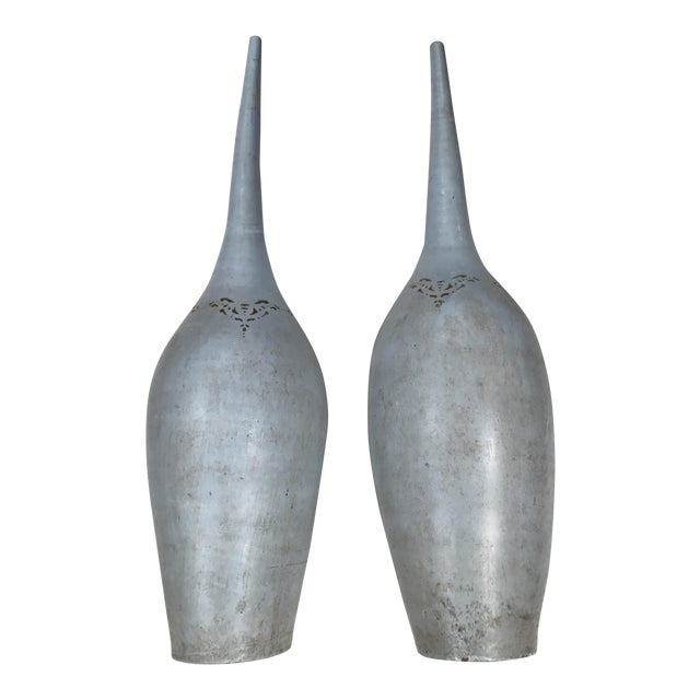 Pasargad Ny Vintage Long Necked Vases A Pair Chairish