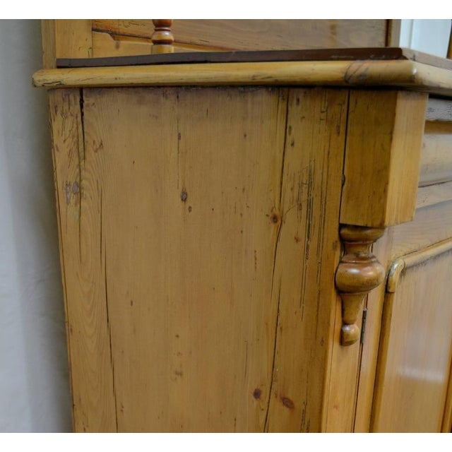 Country Pine and Beech Chiffonier For Sale - Image 9 of 10