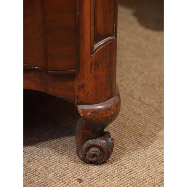 Metal Louis XV Walnut Commode For Sale - Image 7 of 9