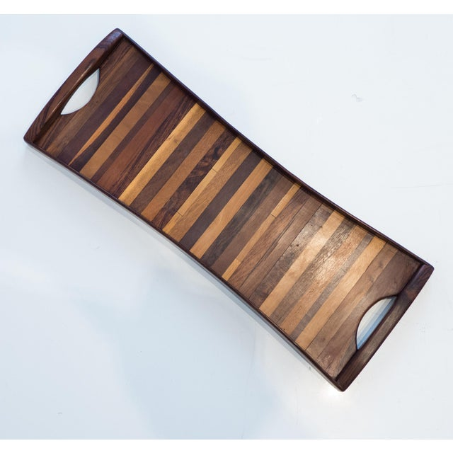 Don Shoemaker Exotic Woods Tray For Sale - Image 10 of 10