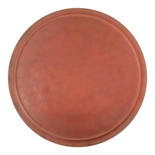 Pacific Pottery Plain-Ware Orange Ceramic Plate