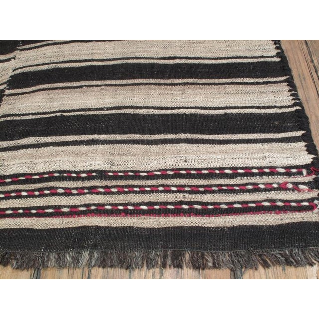 1950s Banded Kilim in Three Panels For Sale - Image 5 of 7