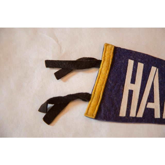 :: Vintage felt flag pennant from Halifax, Nova Scotia. Simple capitalized lettering design atop a solid blue background....