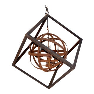 Cube Iron Chandelier