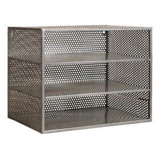 Industrial Age Style Perforated Metal Organizer