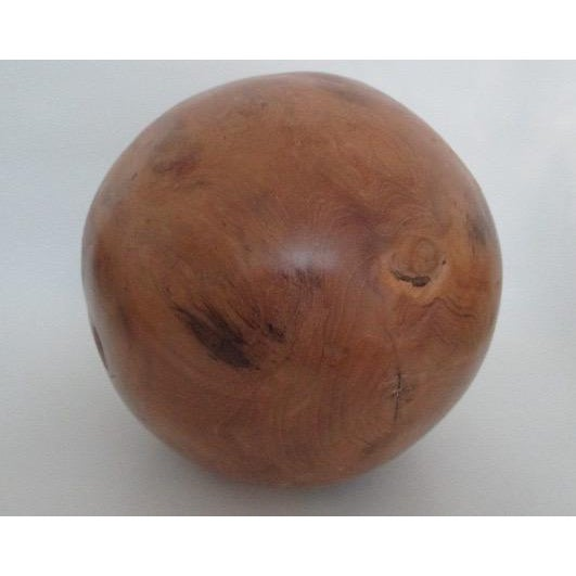 Teak Wooden Orb Decorative Object - Image 3 of 5