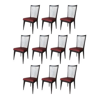 Italian Dining Chairs- Set of 10 For Sale