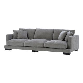 Classic Deep Gray Sofa | Eichholtz Tuscany For Sale
