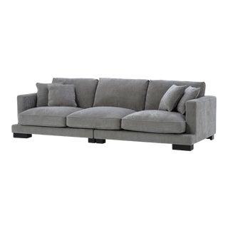Classic Deep Gray Sofa   Eichholtz Tuscany For Sale