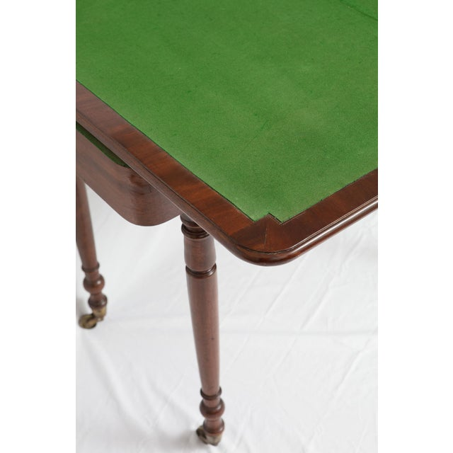 Victorian Mahogany Folding Top Game Table - Image 5 of 7