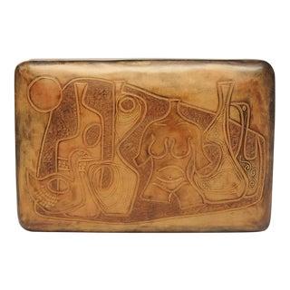 20th Century Italian Handmade Leather Box by Piero Capecchi