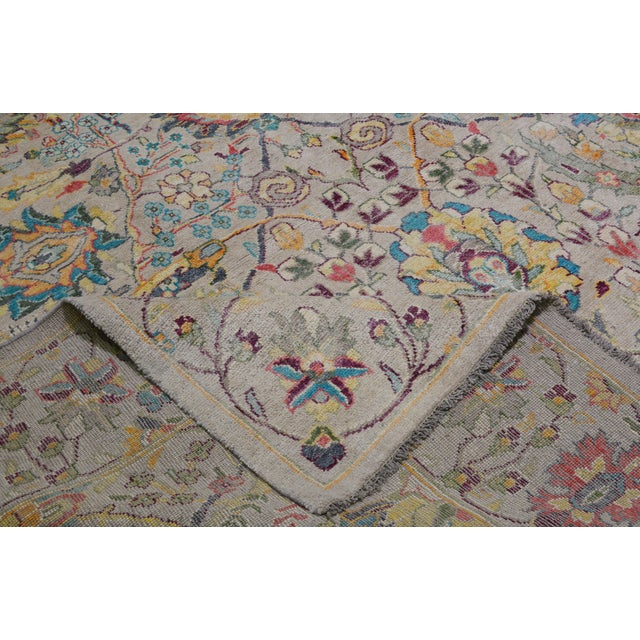 """Vintage Turkish Hand Woven Oushak Rug With Allover Design and Silky Soft Texture,9'7""""x13' For Sale In New York - Image 6 of 7"""