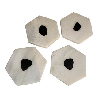 Natural Stone Modern Coasters - Set of 4 For Sale