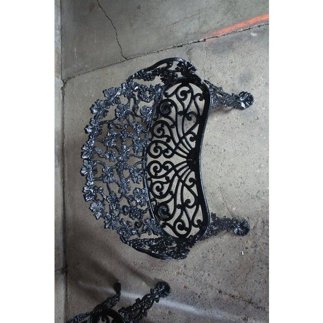 Antique Victorian Cast Iron Grape Vine Garden Furniture-Set Of 3 For Sale - Image 6 of 11