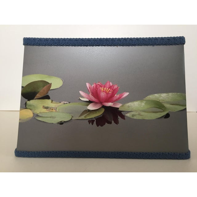Water lily flower lamp shade chairish water lily flower lamp shade image 2 of 8 mightylinksfo