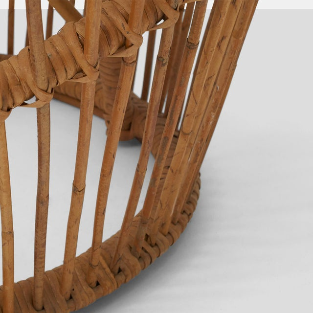Franco albini rattan chair For Sale In San Francisco - Image 6 of 6
