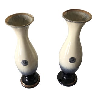 1940s German Porcelain Vases - a Pair For Sale