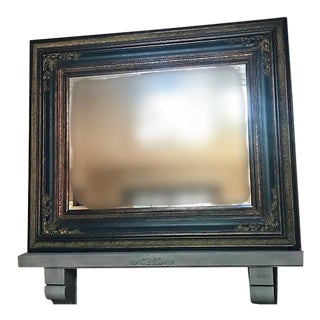 Vintage French Beveled Mantel Mirror For Sale