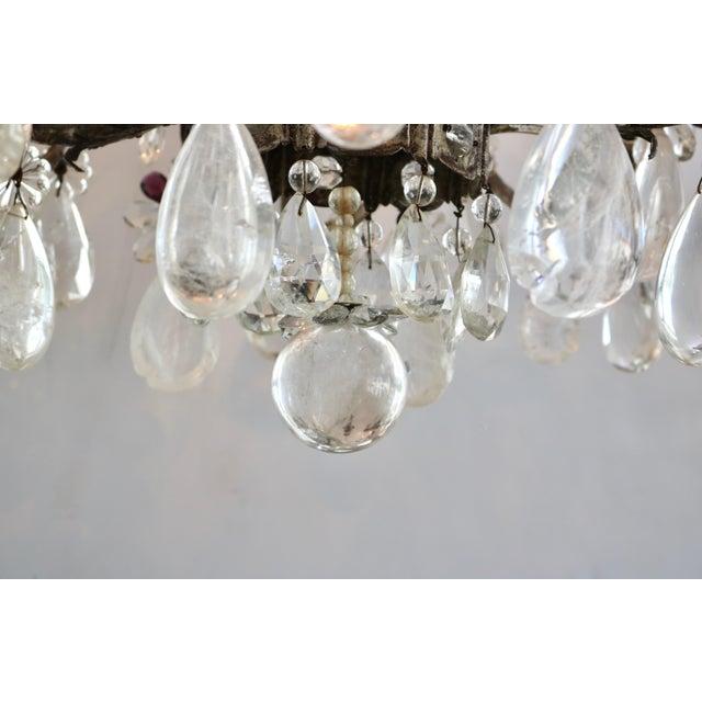 Amethyst Masion Bagues, 12-Light, Rock Crystal & Amethyst Chandelier For Sale - Image 7 of 11