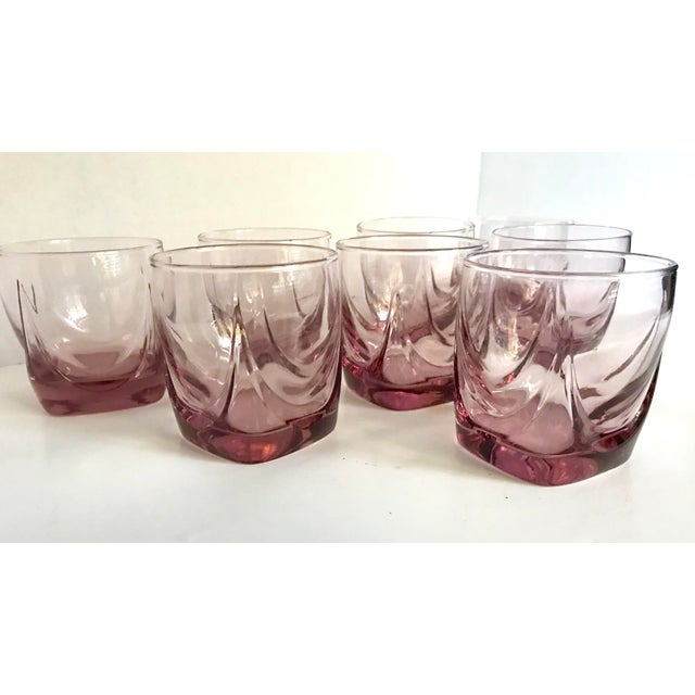 Art Deco Pink Lowball Glasses - Set of 8 For Sale - Image 3 of 4