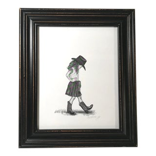 """I've Got the Boots"" Offset Lithograph by Gloria Shanahan For Sale"