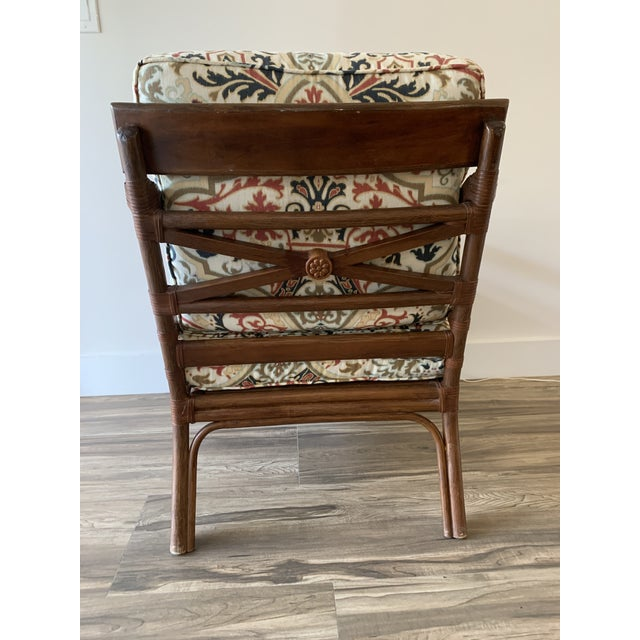 Vintage Mid-Century British Colonial Style Chair For Sale - Image 4 of 13