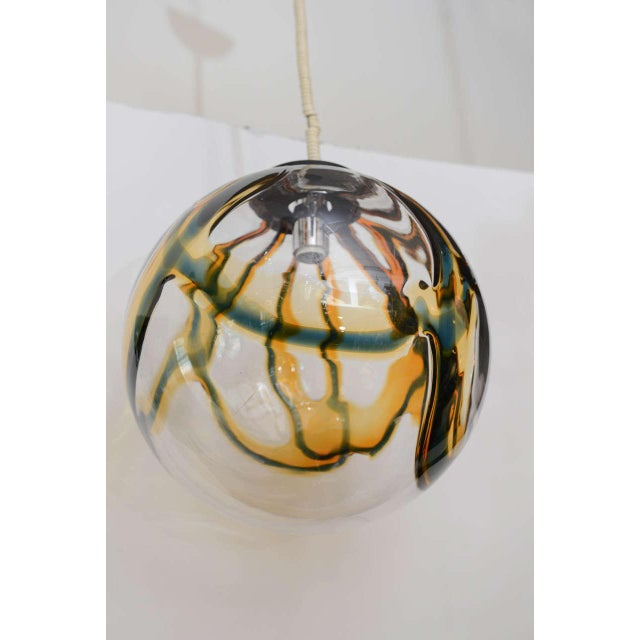 Gigantic Mazzega Murano Globe Hanging Light - Image 5 of 6
