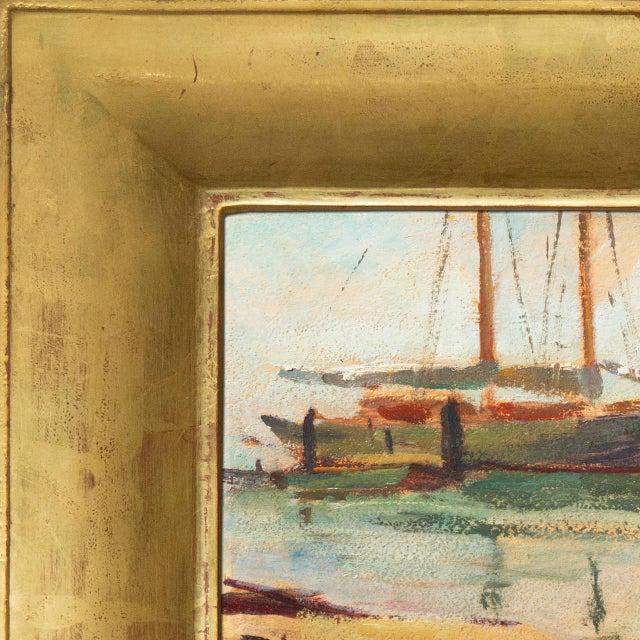 Impressionist 'Harbor Mist' by Jonathan Scott Circa 1960, Laguna Beach Art Association, Aws, Pasadena Art Museum For Sale - Image 3 of 11