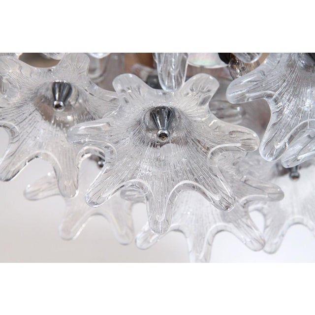 Mid-Century Modern American Glass Bloom Cluster Plafonnier For Sale - Image 3 of 5