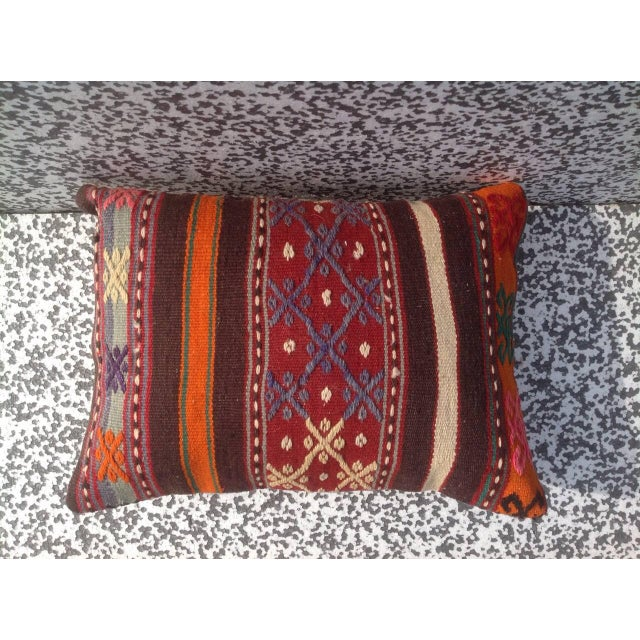 Turkish Kilim Pillow Cover - Image 3 of 6