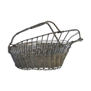 French Silver Basket Wine Pourer For Sale