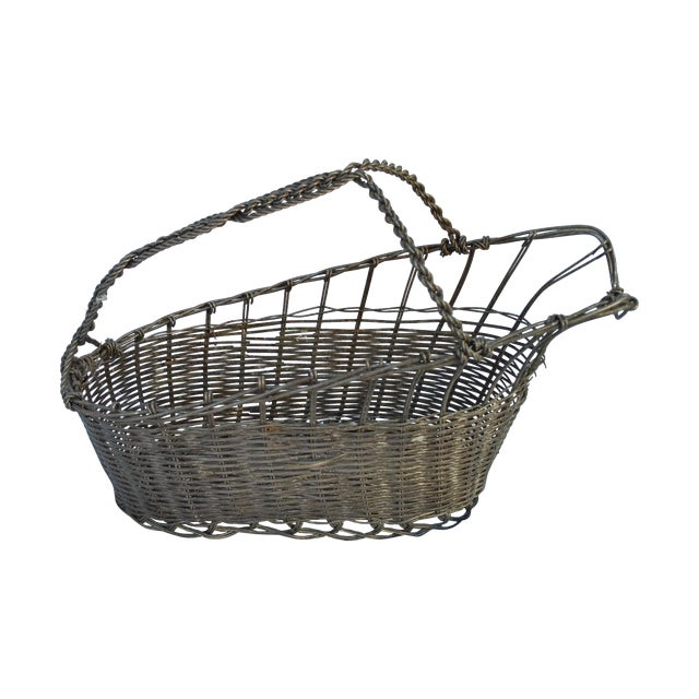 French Silver Basket Wine Pourer - Image 1 of 5
