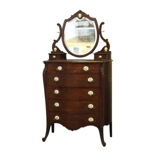 20th Century Queen Anne Mahogany Tall Dresser