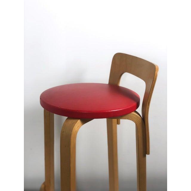 Artek Alvar Aalto by Artek K65 Highback Chair Finland 1940's For Sale - Image 4 of 11