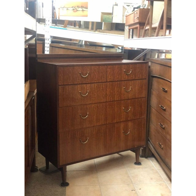 1960s 1960s 1960's Meredew Lowboy Chest of Drawers With Vanity Mirror For Sale - Image 5 of 5