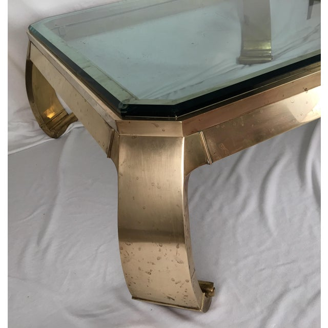 Karl Springer Brass Coffee Table - Image 5 of 7