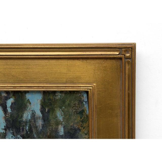 """The School Master's House"" California Original Framed Vintage Oil Painting by Jon Blanchette (1908-1987) For Sale In Denver - Image 6 of 9"