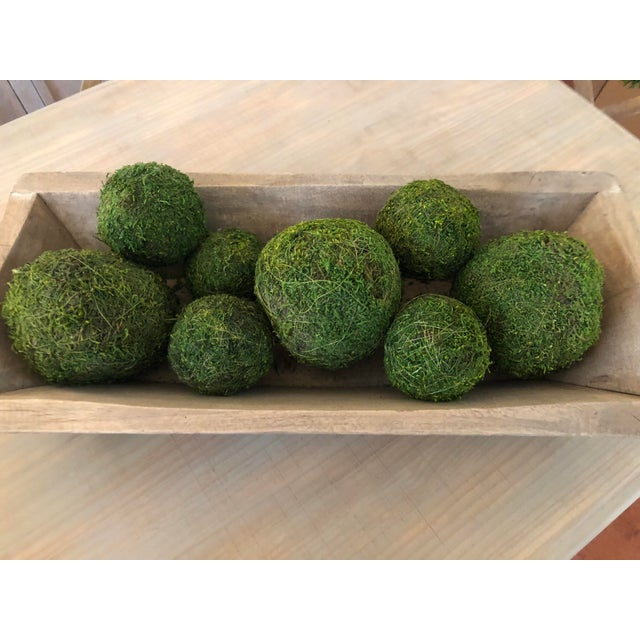 This huge hand carved dough bowl makes a perfect centerpiece! Fill it with large dried moss balls for spring and summer,...