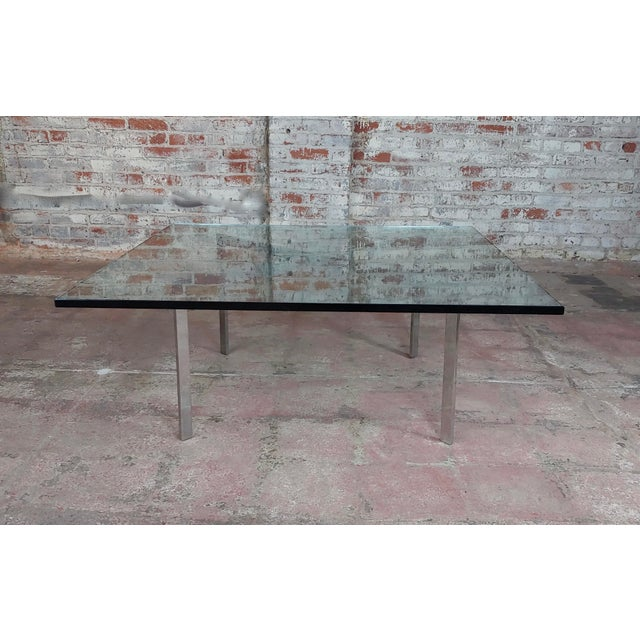 """Knoll Studio Barcelona Coffee Table -Mies Van Der Rohe size 42 x 42 x 17"""" A beautiful piece that will add to your décor!"""