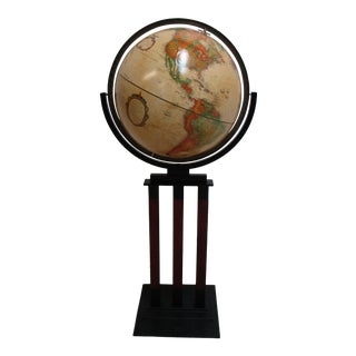 Replogle World Classic Series Art Deco Style Globe & Stand For Sale