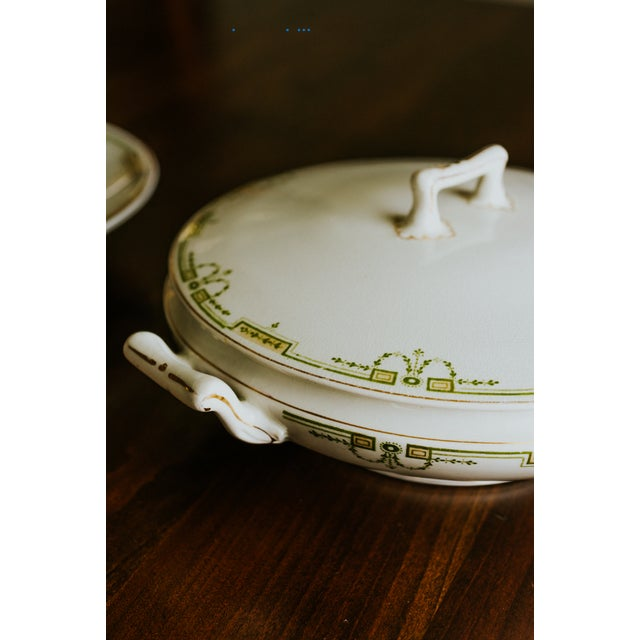 Ceramic 1920s Vintage W. H. Grindley & Co. China Dishes and Serving Platter For Sale - Image 7 of 10
